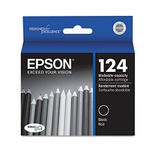 Original Epson 124 T124120 Moderate Capacity Black Ink Cartridge