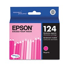 Original Epson 124 T124320 Moderate Capacity Magenta Ink Cartridge