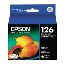 Original Epson T126520 High Yield Color Ink Cartridge 3 Pack