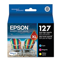 Original Epson T127520 Extra High Yield Color Ink 3 Pack