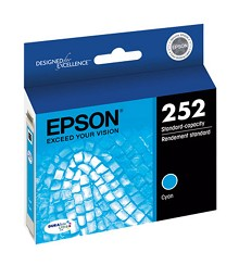 Original Epson T252220 Cyan Ink Cartridge