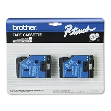 Brother TC10 1/2 in. Laminated Black on Clear Tape 2 Pack