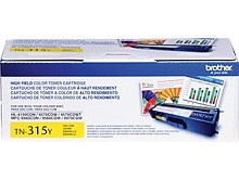 Original Brother TN315Y High Yield Yellow Toner Cartridge