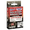 Brother TZES135 1/2 in. Extra Strength Super Adhesive White on Clear Industrial Tape