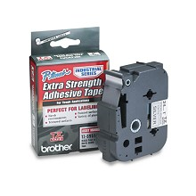 Brother TZES951 1 in. Extra Strength Super Adhesive Black on Matte Silver Industrial Tape