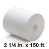 2-1/4 inch wide x 150 ft Thermal Paper Rolls, 50 Rolls