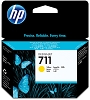Genuine HP 711 CZ132A Yellow Ink Cartridge 29ml