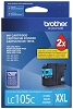 Brother LC105C Super High Yield Cyan Ink Cartridge