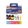 Original Brother LC41 Color Ink Cartridge 3 Pack