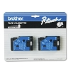 Brother TC20 1/2 in. Laminated Black on White Tape 2 Pack