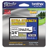 Brother TZES241 3/4 in. Extra Strength Super Adhesive Black on White Industrial Tape