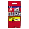 Brother TZES641 3/4 in. Extra Strength Super Adhesive Black on Yellow Industrial Tape