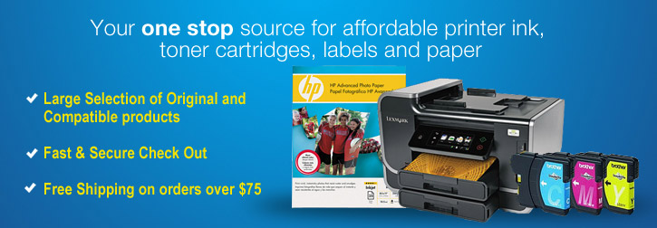 Discount Printer Ink Cartridges and Laser Toner