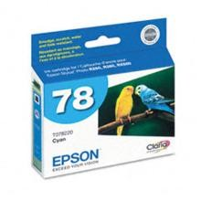 Original Epson T078220 Cyan Ink Cartridge