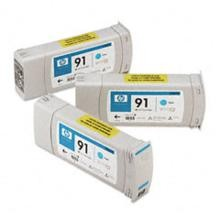 Genuine HP 91 C9483A Cyan C9467A Ink Cartridge 3 Pack