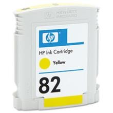 Genuine HP 82 CH568A 28ML Yellow Ink Cartridge