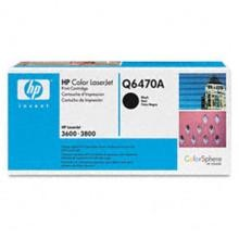Genuine HP Q6470A Black Toner Cartridge
