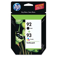 Genuine HP 92 HP 93 C9513FN Black / Color Ink Cartridge Combo Pack