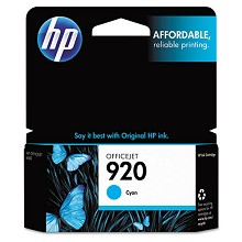 Genuine HP 920 CH634AN Cyan Ink Cartridge