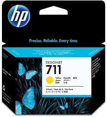 Genuine HP 711 CZ136A 3-Pack Yellow Ink (3 x 29 ml)
