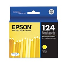 Original Epson 124 T124420 Moderate Capacity Yellow Ink Cartridge